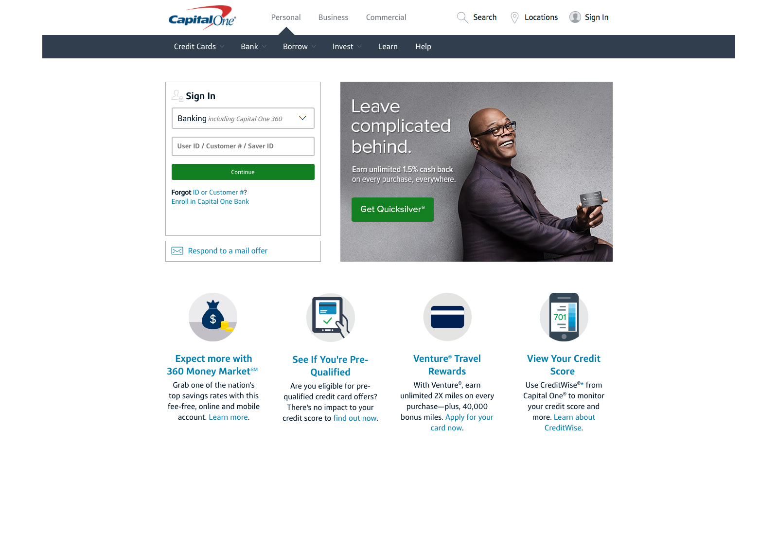 Capital One Financial – Jim Bowman, CUA